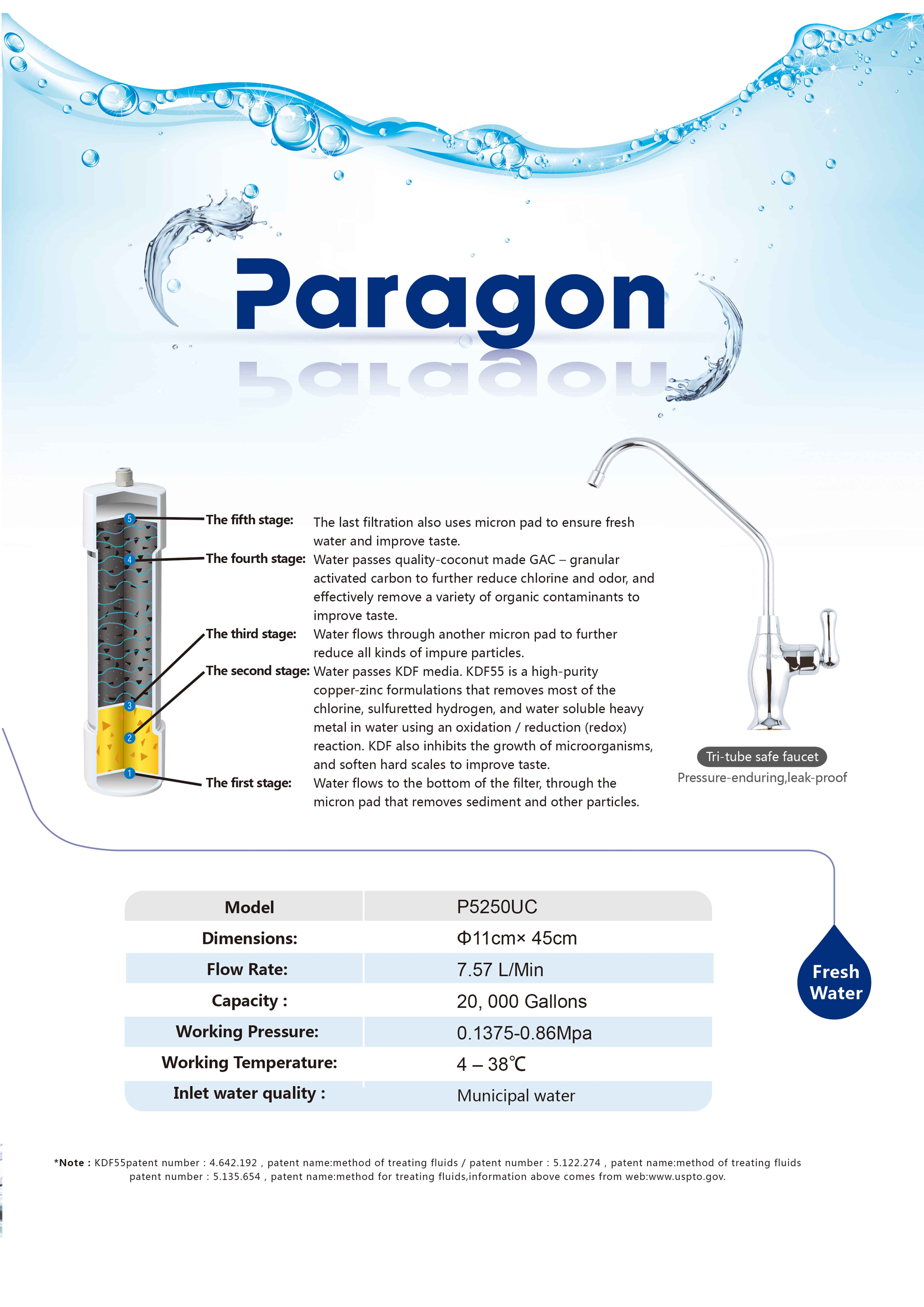 ParagonWater P5250 A4 P2s ENG